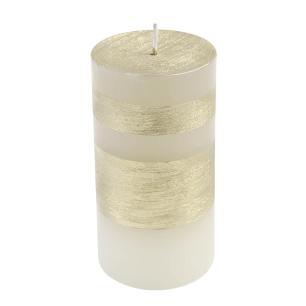 Vela Cilindrica 7,5x15 Faixa Dourada