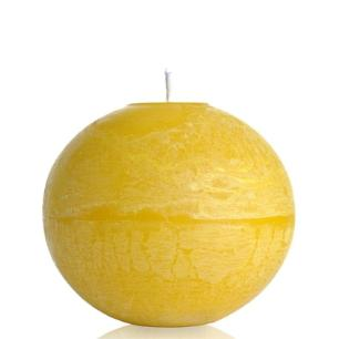Vela Bola 15 Cm Marfim