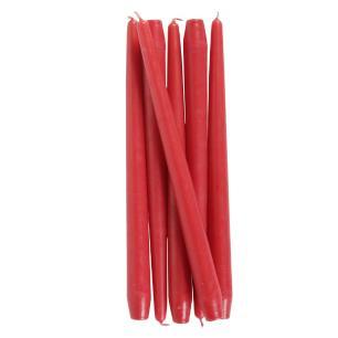 Vela Castiçal Cônica 30 Cm Vermelho