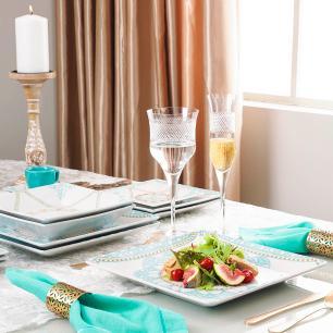 Aparelho de Jantar E Chá 30 Peças Quartier Domo