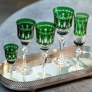 Taça de Cristal Strauss Champagne 240ml - Verde Escuro - 237.107.068.014
