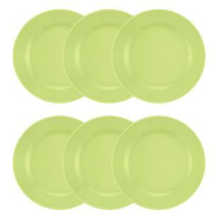 Conjunto de 6 Pratos Rasos 24cm Donna Verde