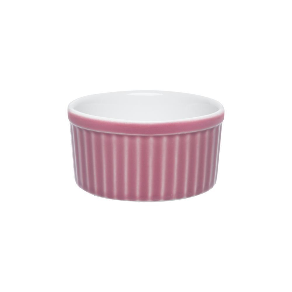 Conjunto de 6 Tigelas Ramequin 180ml Ramequin Branco/Rosa