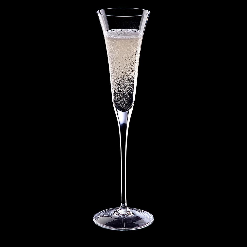 Jogo de 6 Taças em Cristal Champagne 150ml - Selo Prata Imperattore - 192.609