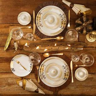Conjunto de 6 Pratos Fundos 24cm Coup Golden