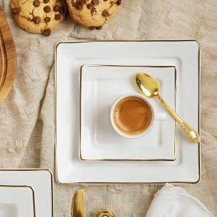 Aparelho de Jantar Chá E Café 42 Peças Nara Rendado
