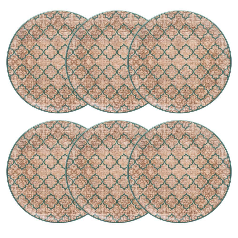 Conjunto de 6 Pratos Rasos 26cm Unni Linen