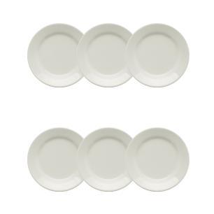 Conjunto de 6 Pratos Sobremesa 19cm Donna Branco