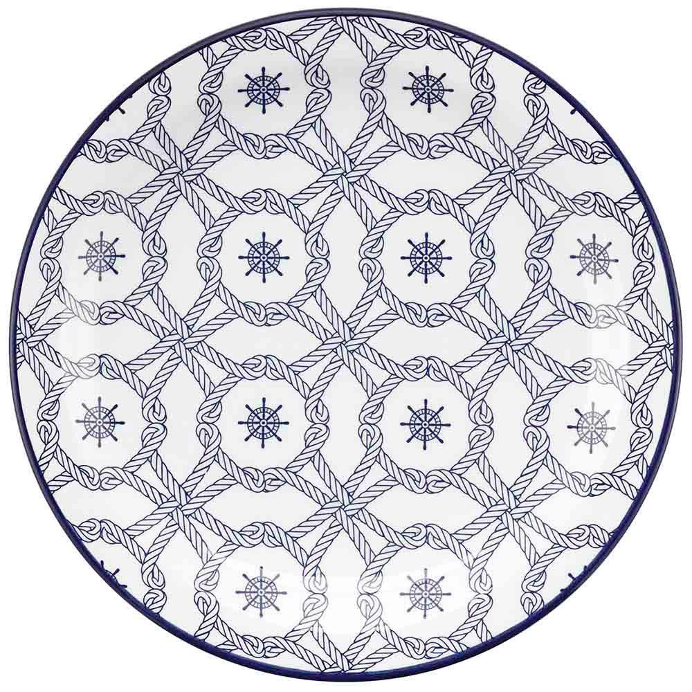 Conjunto de 6 Pratos Rasos 26cm Floreal Nautico
