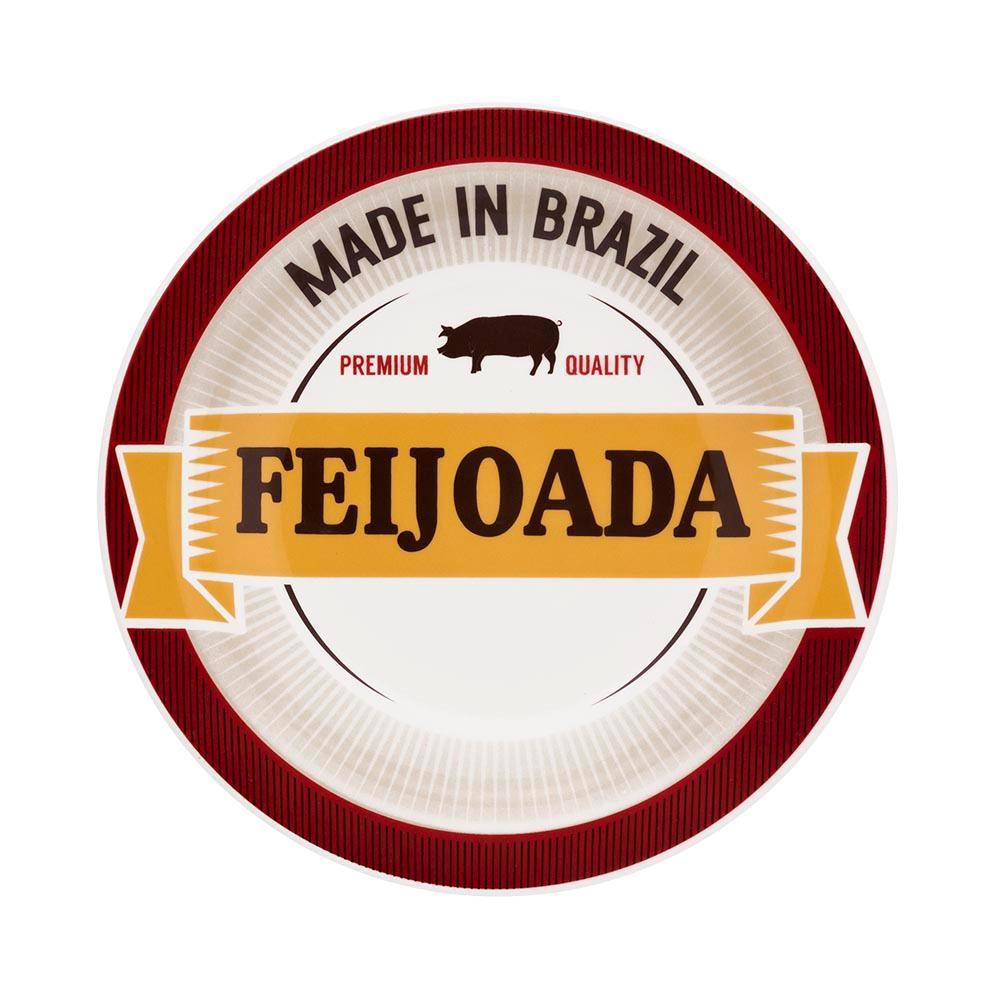 Conjunto de 6 Pratos 23cm Feijoada Premium