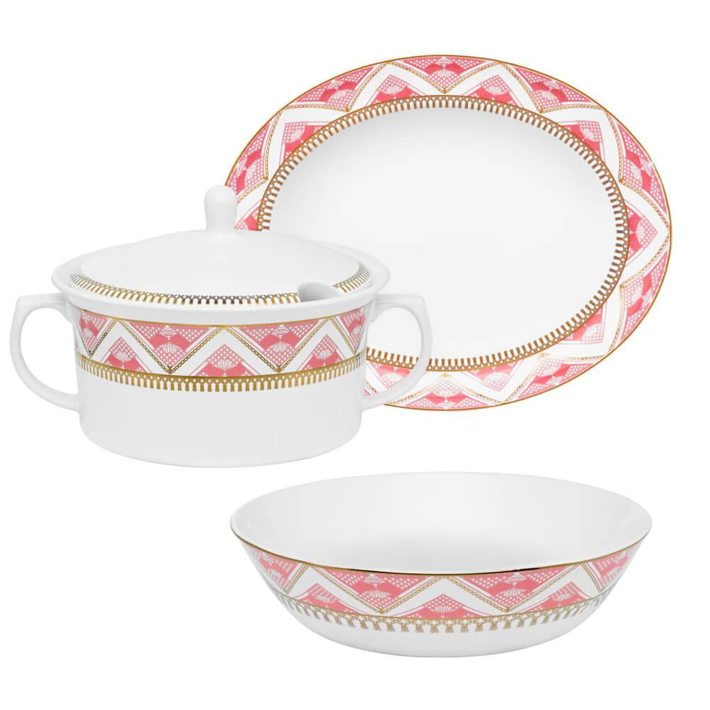 Conjunto para Servir com 3 peças Flamingo Macrame