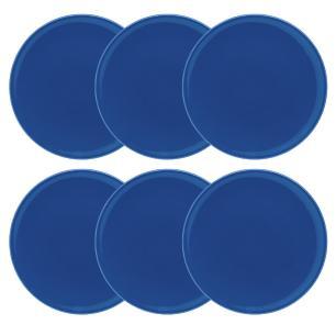 Conjunto de 6 Pratos Rasos 26cm Unni Blue