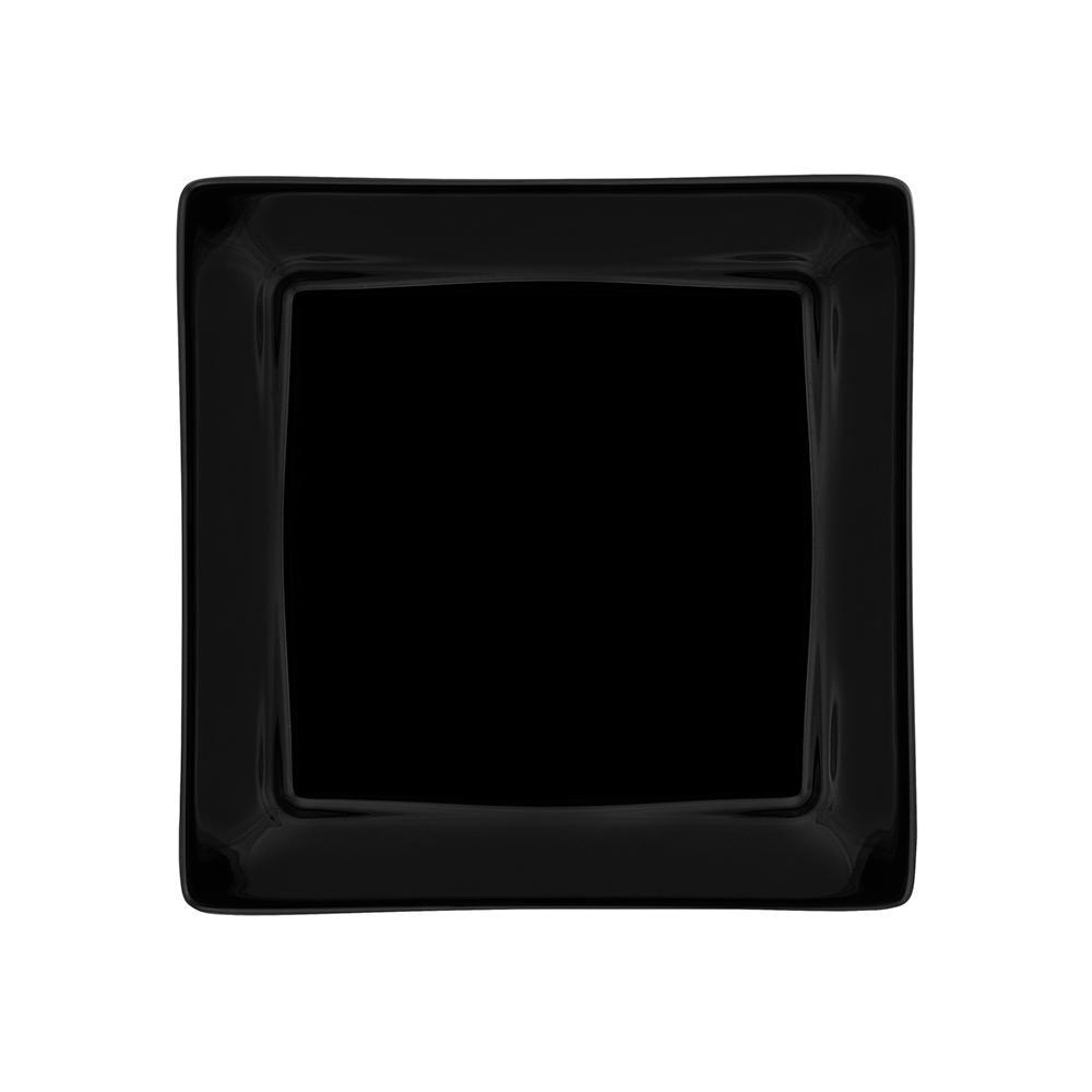 Conjunto de 6 Pratos Sobremesa 21x21cm Nara Black