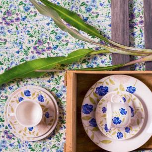 Aparelho de Jantar E Chá 20 Peças Actual Azul Perfeito