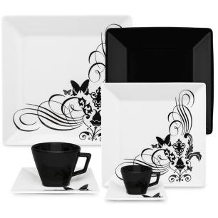 Aparelho de Jantar Chá E Café 42 Pçs Oxford Tatoo Black