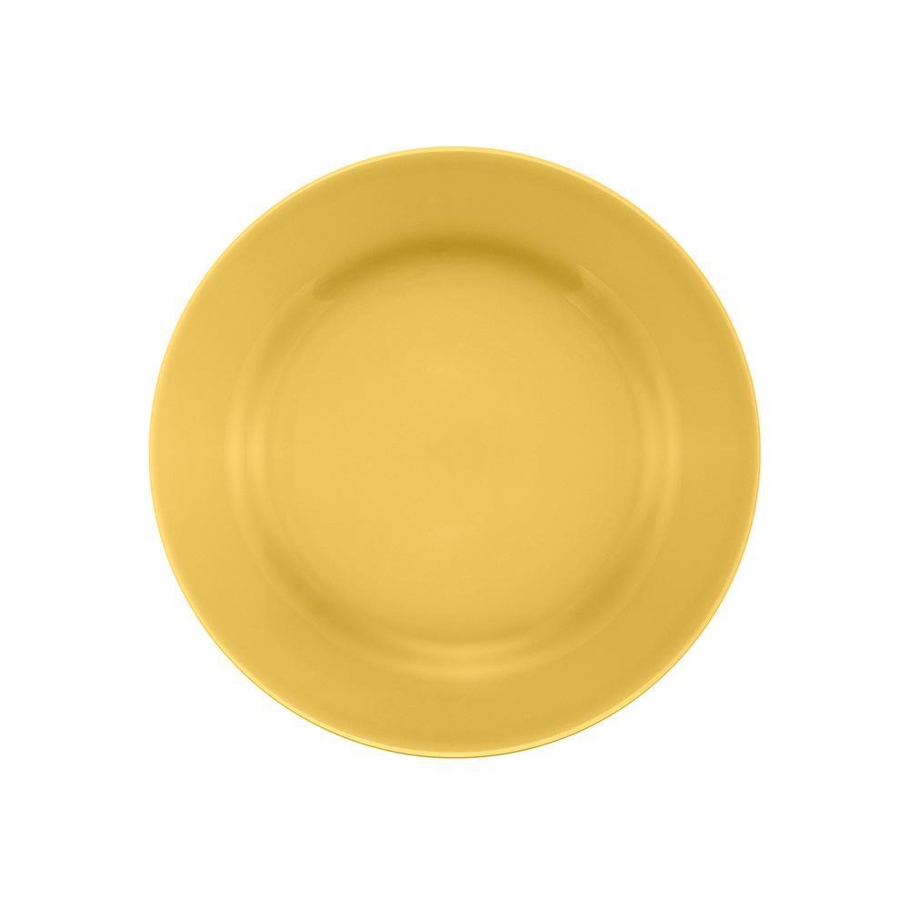 Conjunto de 6 Pratos Sobremesa 19cm Donna Amarelo