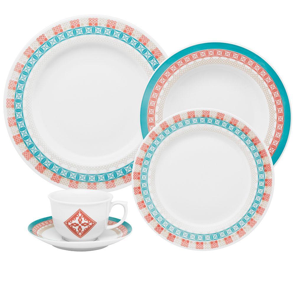 Aparelho de Jantar E Chá 30 Peças Flamingo Colors