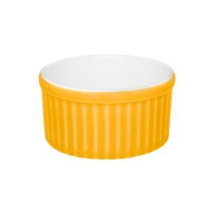 Conjunto de 6 Ramequins 10x5cm 180ml Amarelo e Branco