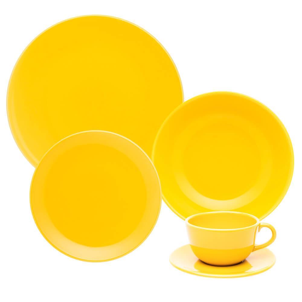Aparelho de Jantar e Chá 30 peças Unni Yellow