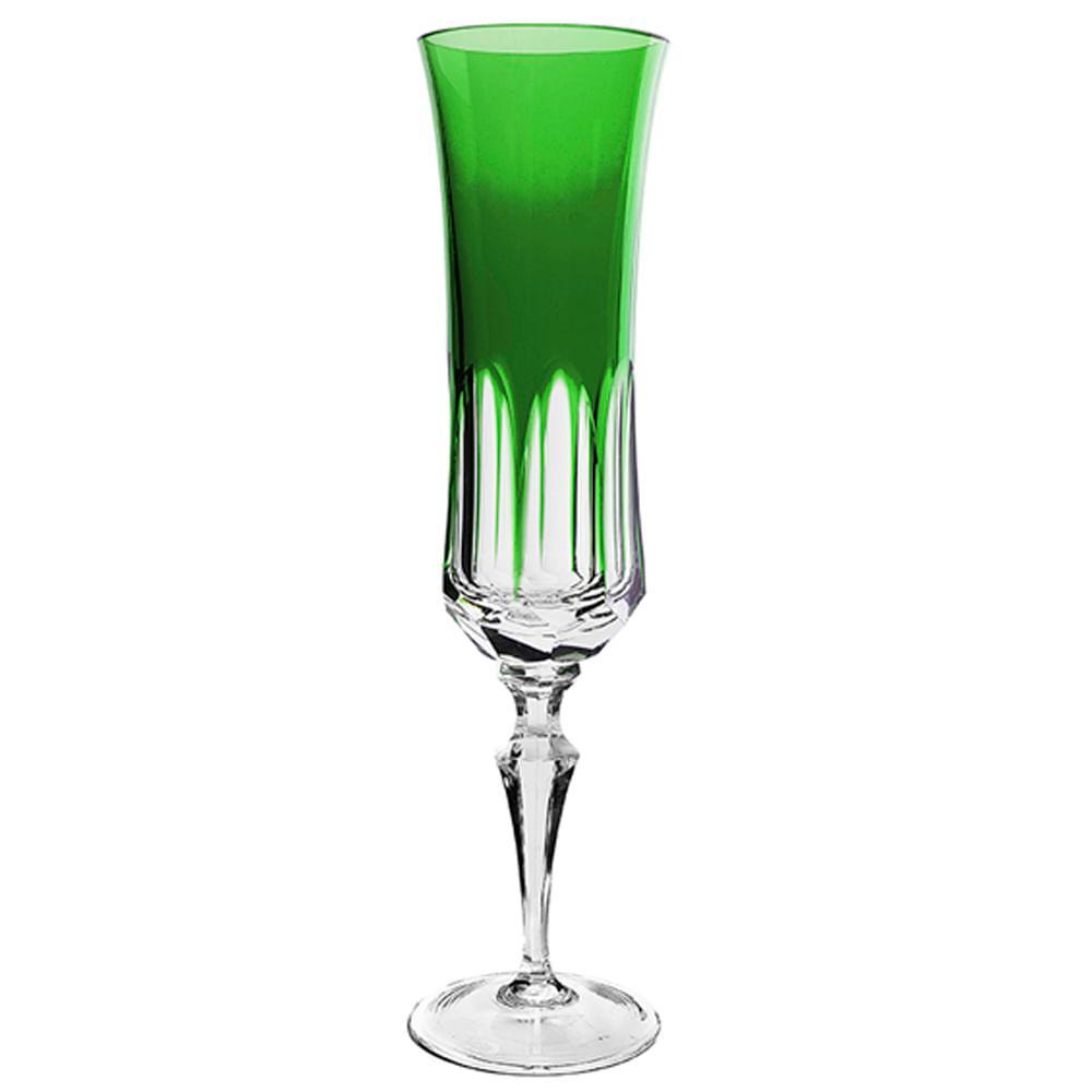 Taça de Cristal Strauss Champagne 210ml - Verde Escuro - 119.107.055.014