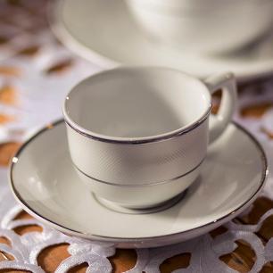Aparelho de Jantar Chá E Café 42 Peças Flamingo Diamond