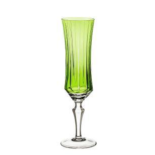 Taça de Cristal Strauss Champagne 210ml - Verde Claro - 119.107.150.011
