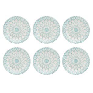Conjunto de 6 Pratos Sobremesa 19cm Donna Mandala