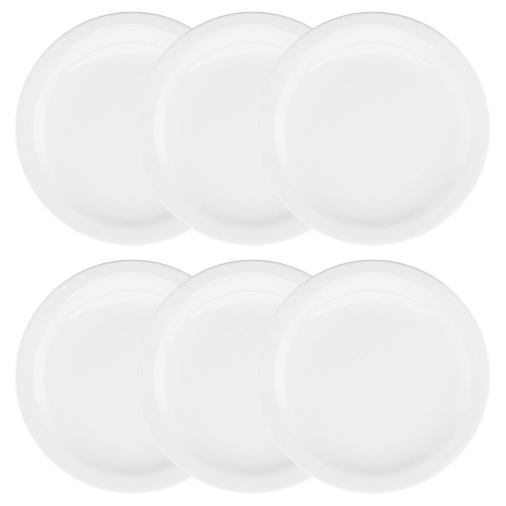 Conjunto de 6 Pratos Rasos 26cm Floreal White