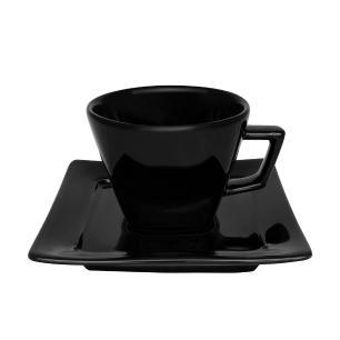 Aparelho de Jantar Chá E Café 42 Peças Nara Black