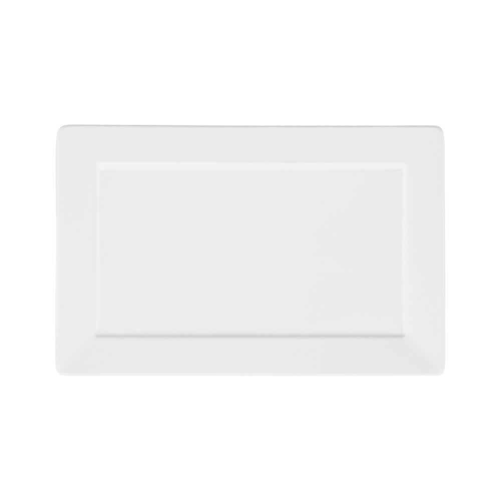 Conjunto de 6 Pratos Sobremesa 24,5x16cm Plateau White