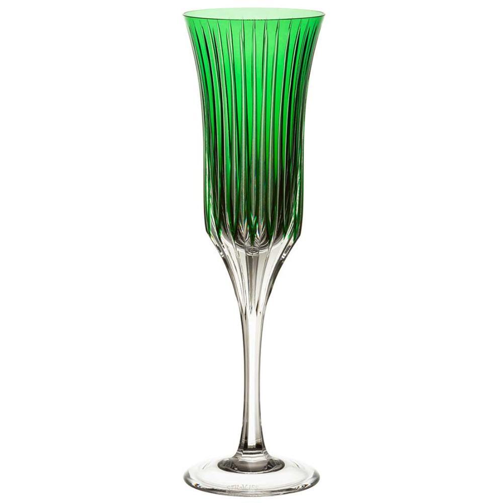 Taça de Cristal Strauss Champagne 190ml - Verde Escuro - 225.107.150.014
