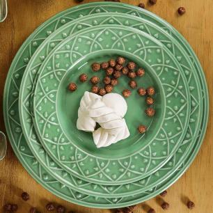 Aparelho de Jantar E Chá 20 Peças Mendi Sálvia