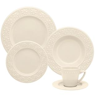 Aparelho de Jantar E Chá 20 Peças Mendi Marfim