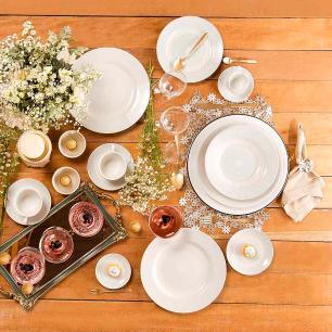 Aparelho de Jantar Chá E Café 42 Peças Flamingo Dress