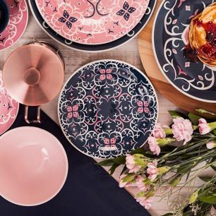 Conjunto de 6 Pratos Sobremesa 20cm Floreal Hana