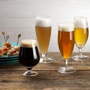 Jogo de 6 Taças de Cristal Cerveja Longa 300ml Classic