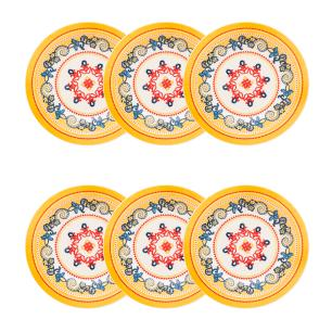 Conjunto de 6 Pratos Fundos 23cm Floreal La Pollera