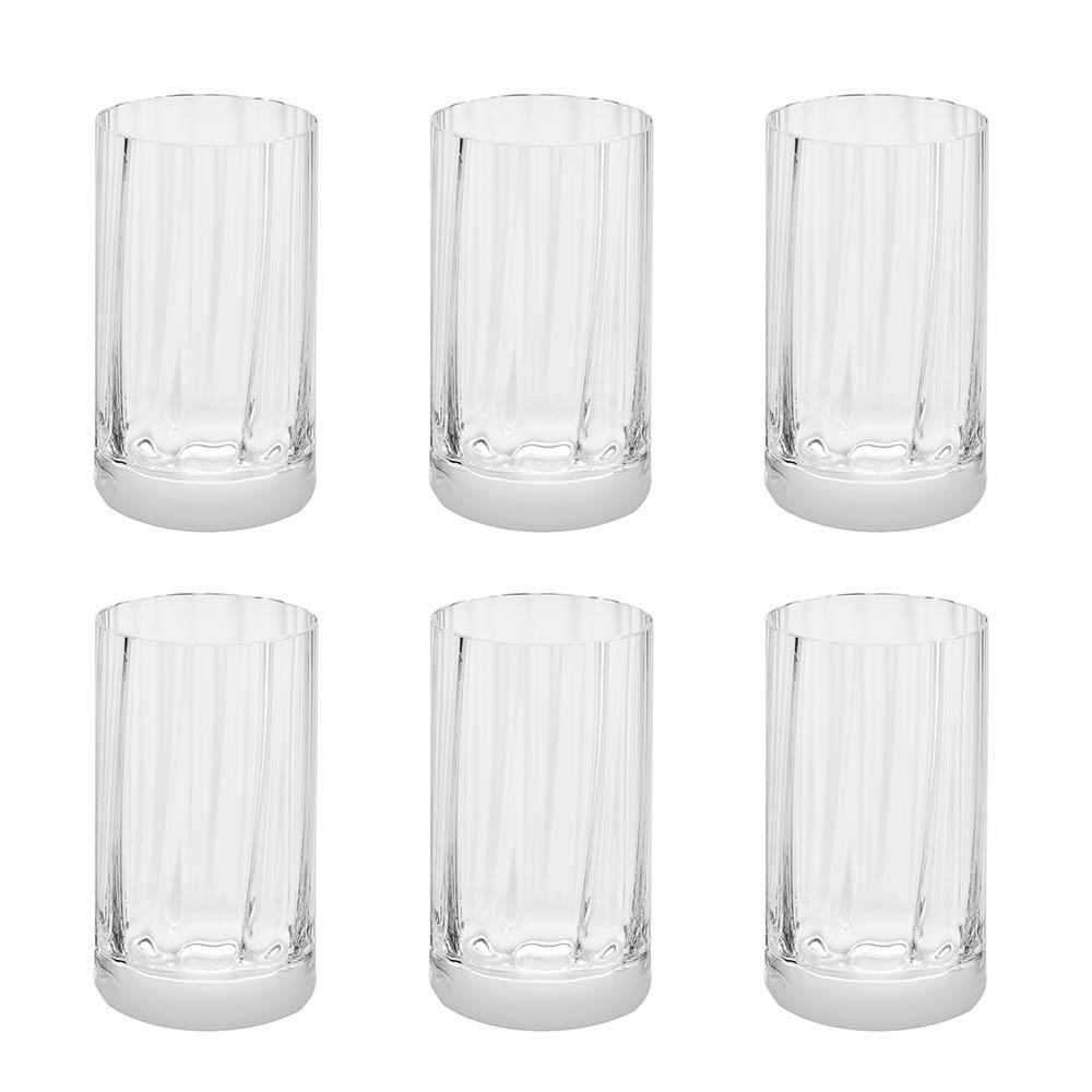 Jogo de 6 Copos de Cristal Água 290ml Illusion