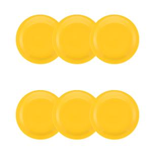 Conjunto de 6 Pratos Sobremesa 20cm Floreal Yellow