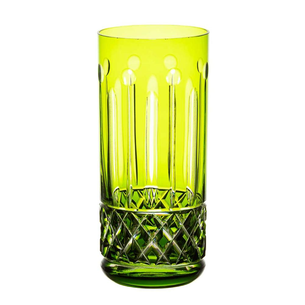 Copo de Cristal Strauss Long Drink 395ml - Verde Claro - 105.142.069.011