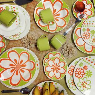 Aparelho de Jantar E Chá 30 Peças Donna Euforia