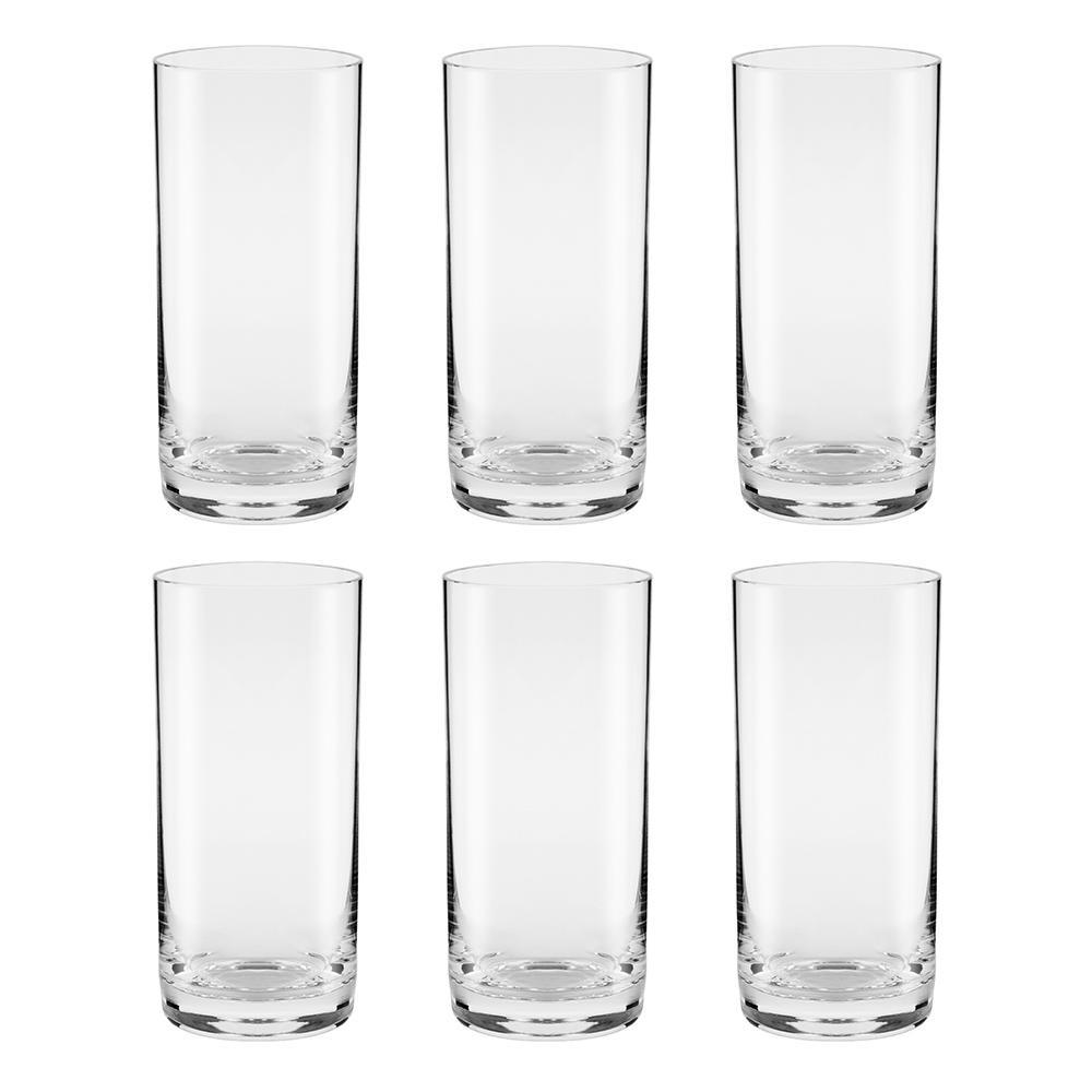 Conjunto de 6 Copos de Cristal Suco 340ml Classic