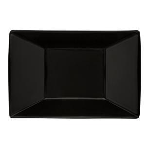 Conjunto de 6 Pratos Fundos 23,5x16cm Retangular Black
