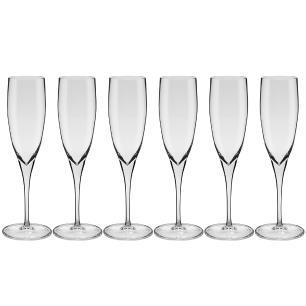 Conjunto de 6 Taças de Cristal Espumante 240ml Classic