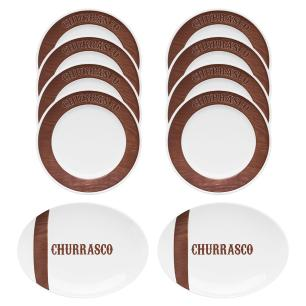 Conjunto de Churrasco Tradição 10 peças