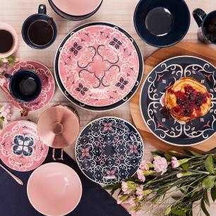 Aparelho de Jantar E Chá 30 Peças Floreal Hana
