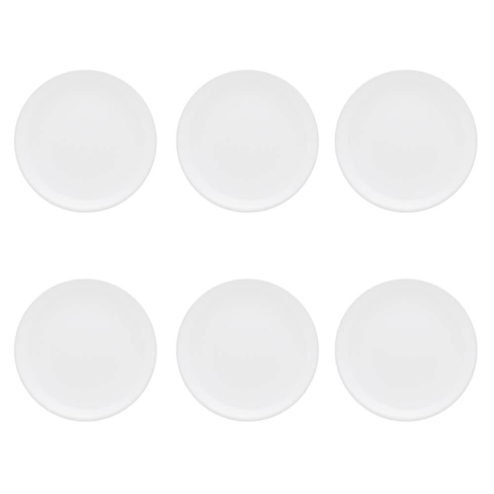 Conjunto de 6 Pratos Sobremesa 19cm Unni White