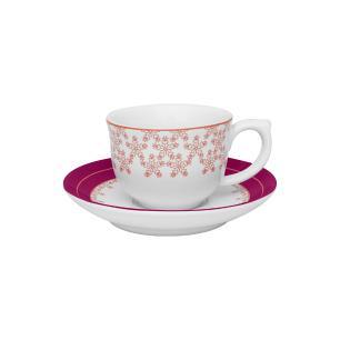 Aparelho de Jantar Chá E Café 42 Peças Flamingo Dama De Honra