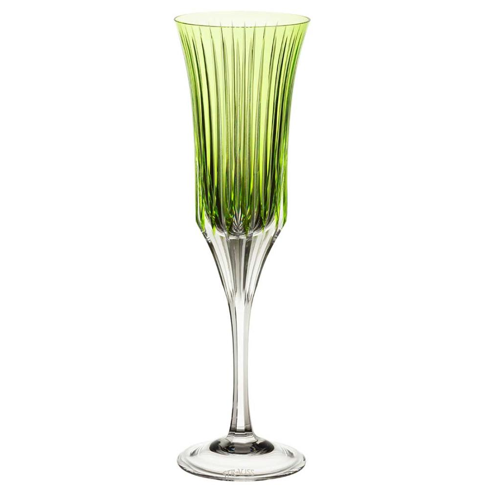 Taça de Cristal Strauss Champagne 190ml - Verde Claro - 225.107.150.011