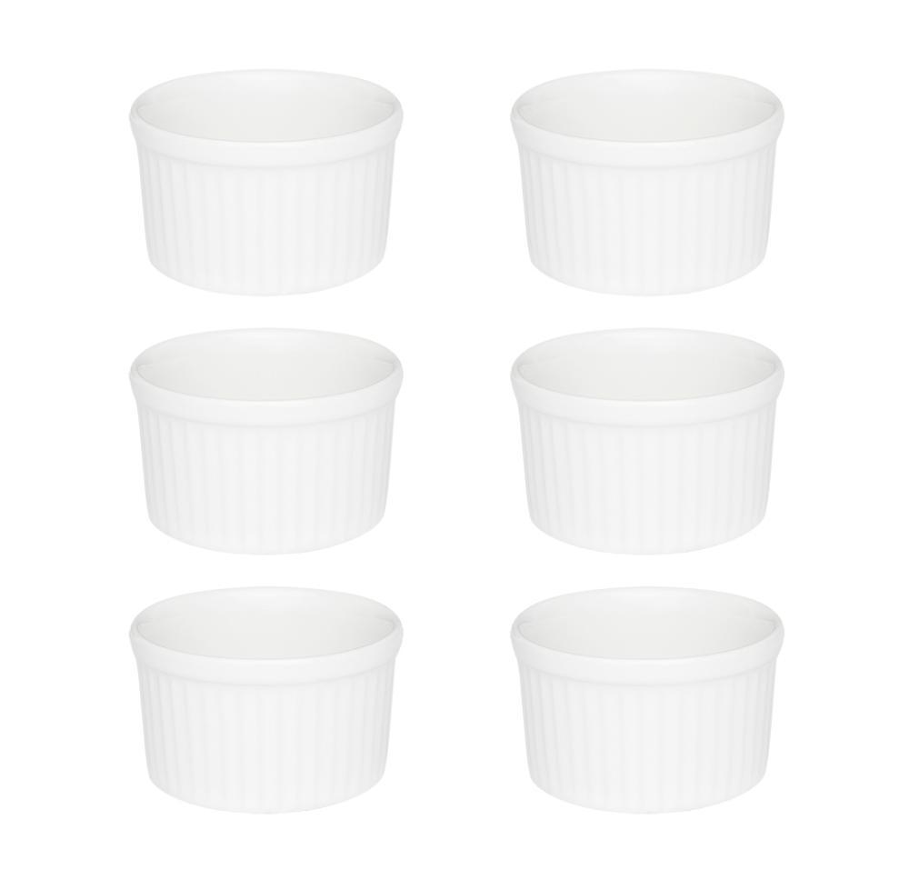 Conjunto de 6 Ramequins 6x3cm 50ml Branco